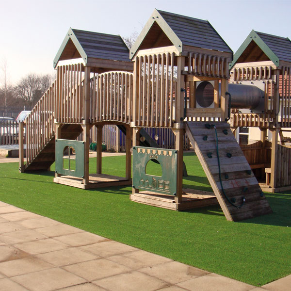 Artificial grass for childrens playgrounds