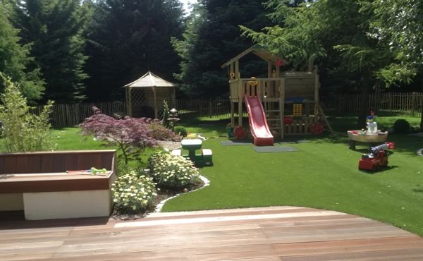 Artificial grass for large gardens