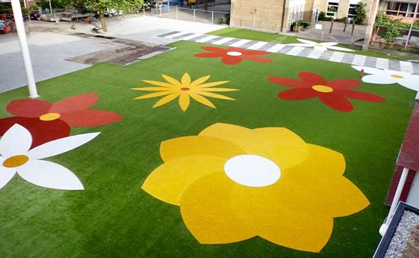 Childrens play areas and artificial grass