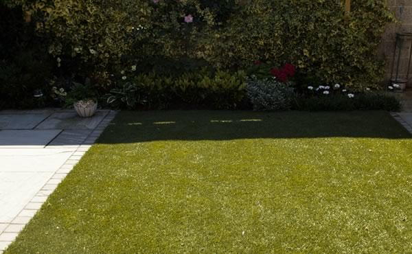 small gardens and artificial grass